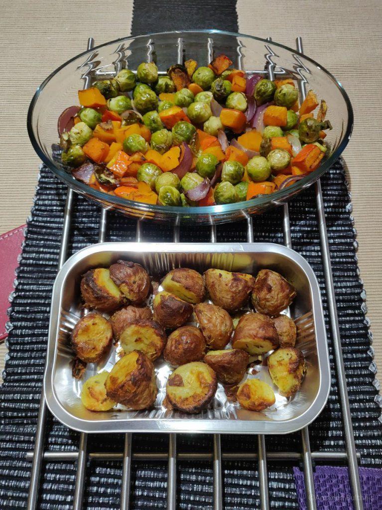 Oven aardappelen en groente