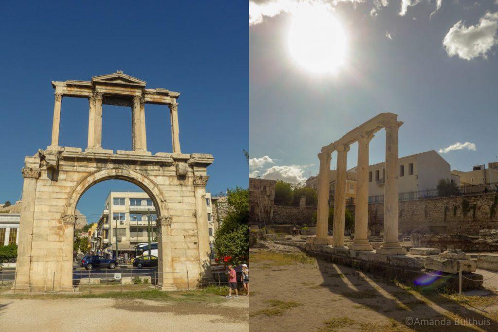 Hadrian's arch en Hadrian's Library