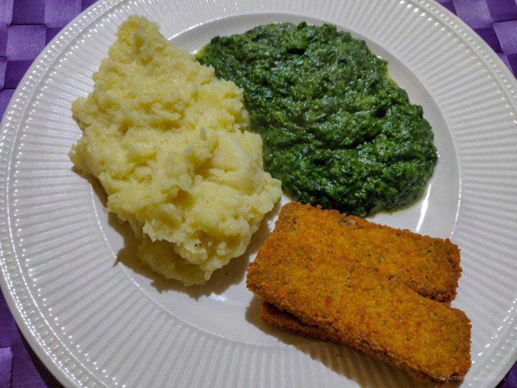 Spinazie met aardappelpuree