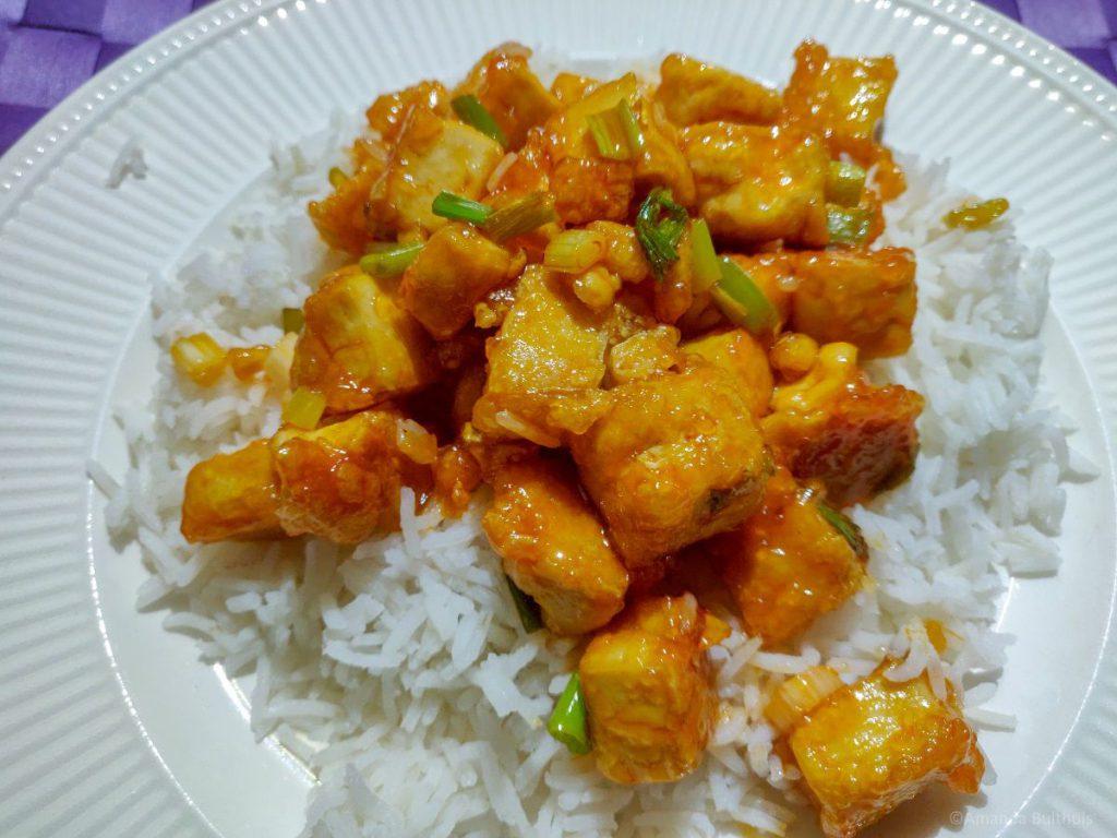 Tofu met zoet-zure saus