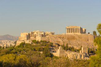 Uitzicht vanaf Filopappos Hill