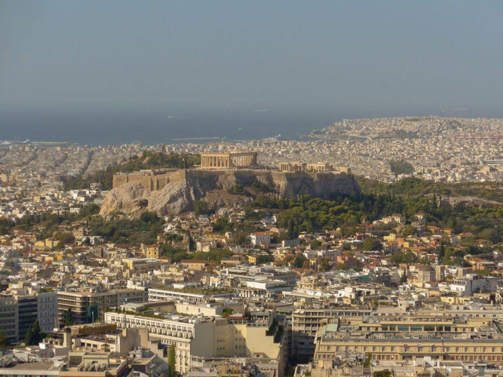 Uitzicht vanaf Lykavittos Hill