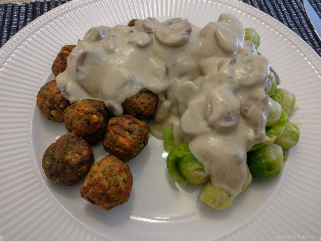 Vegan champignonroomsaus
