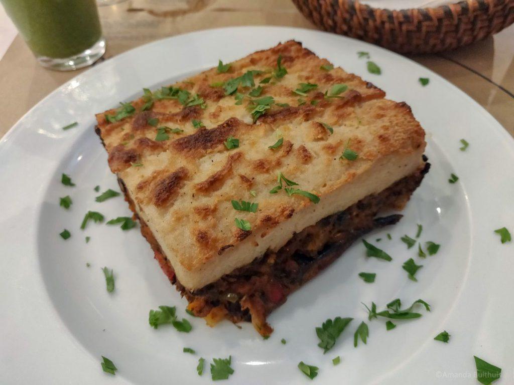 Vegan moussaka, Mama Tierra, Athene