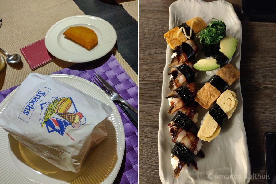 Frietjes en sushi van Sakana