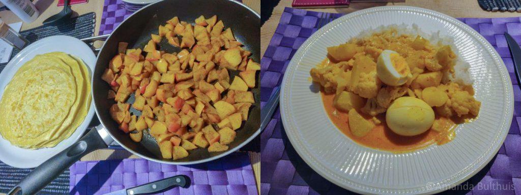 Pannenkoeken en curry