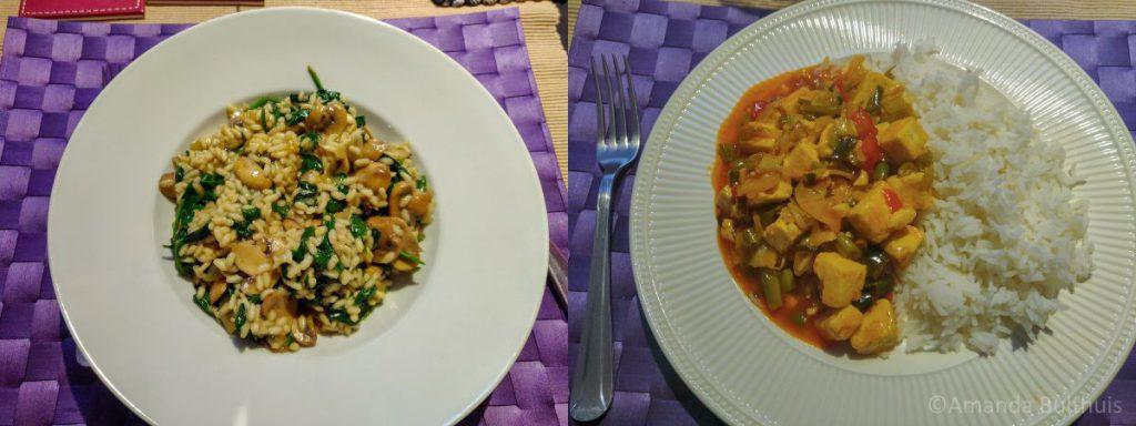 Risotto en wok met zoetzure saus