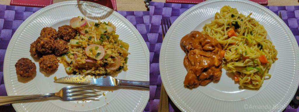 Wok met Vietnamese groente en bami