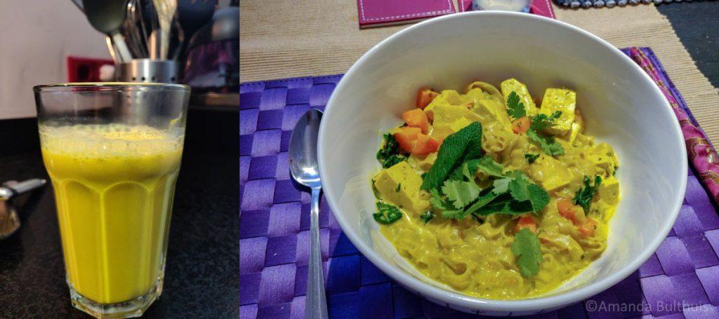 Kurkuma latte en laksa curry