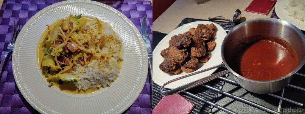 Thaise curry en vega babi pangang