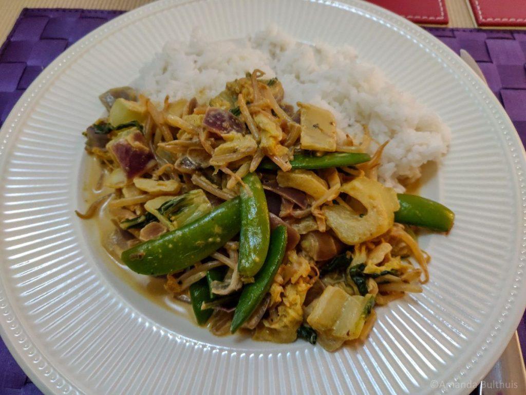 Thaise wok met curry