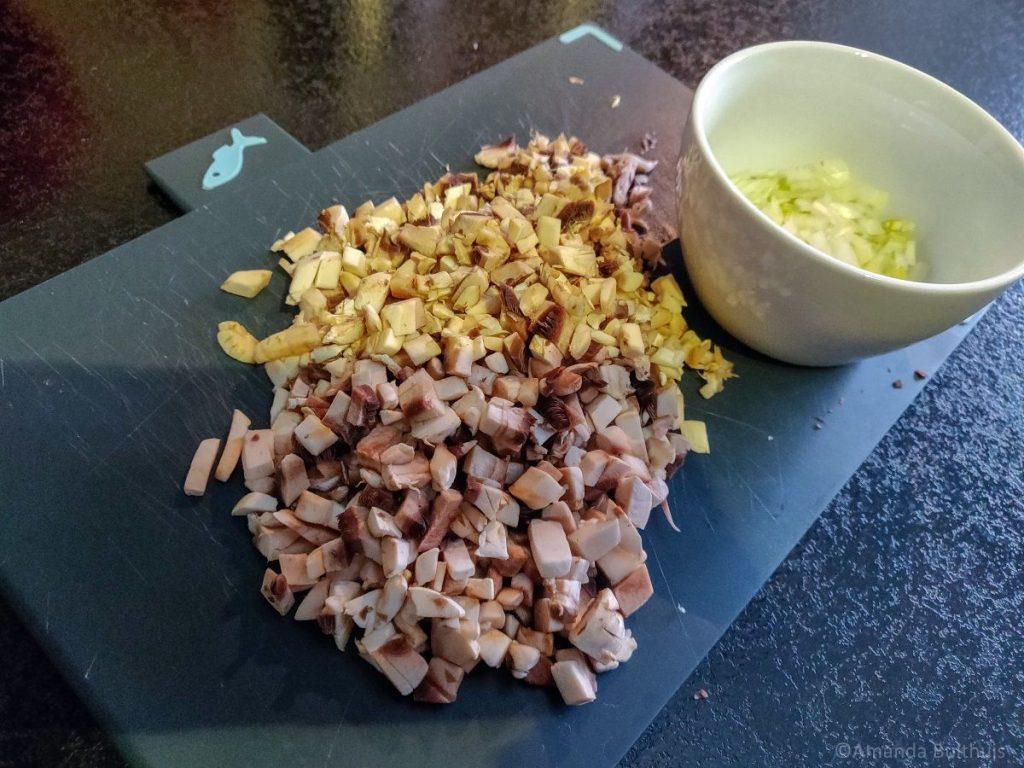 Ingrediënten voor vegetarische kroketten