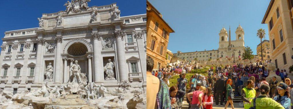 Rome - Trevi Fontein en Spaanse trappen