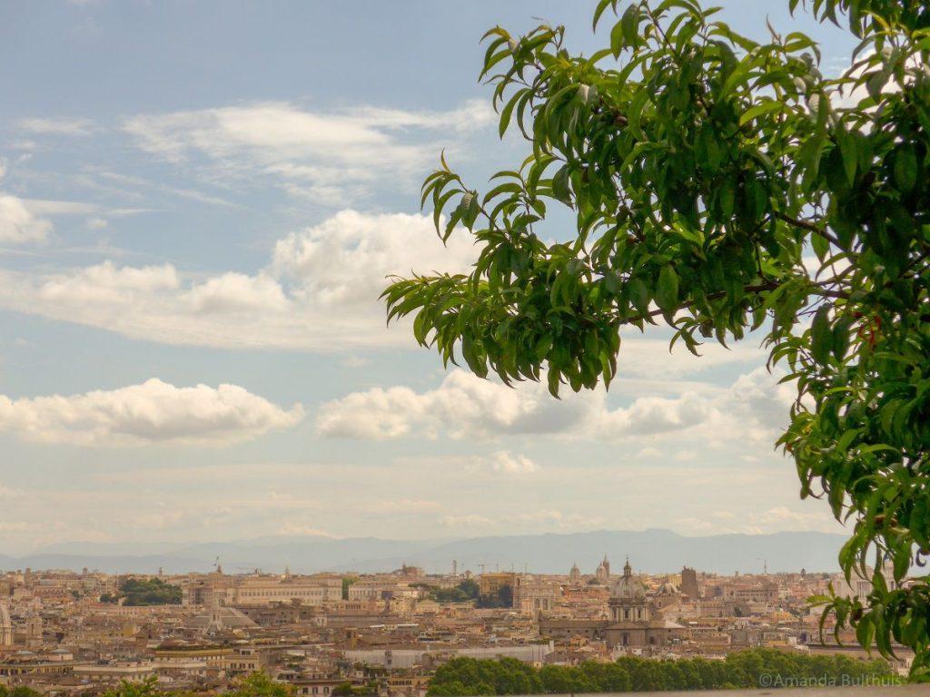 Uitzicht over Rome vanaf Gianicollo Hill