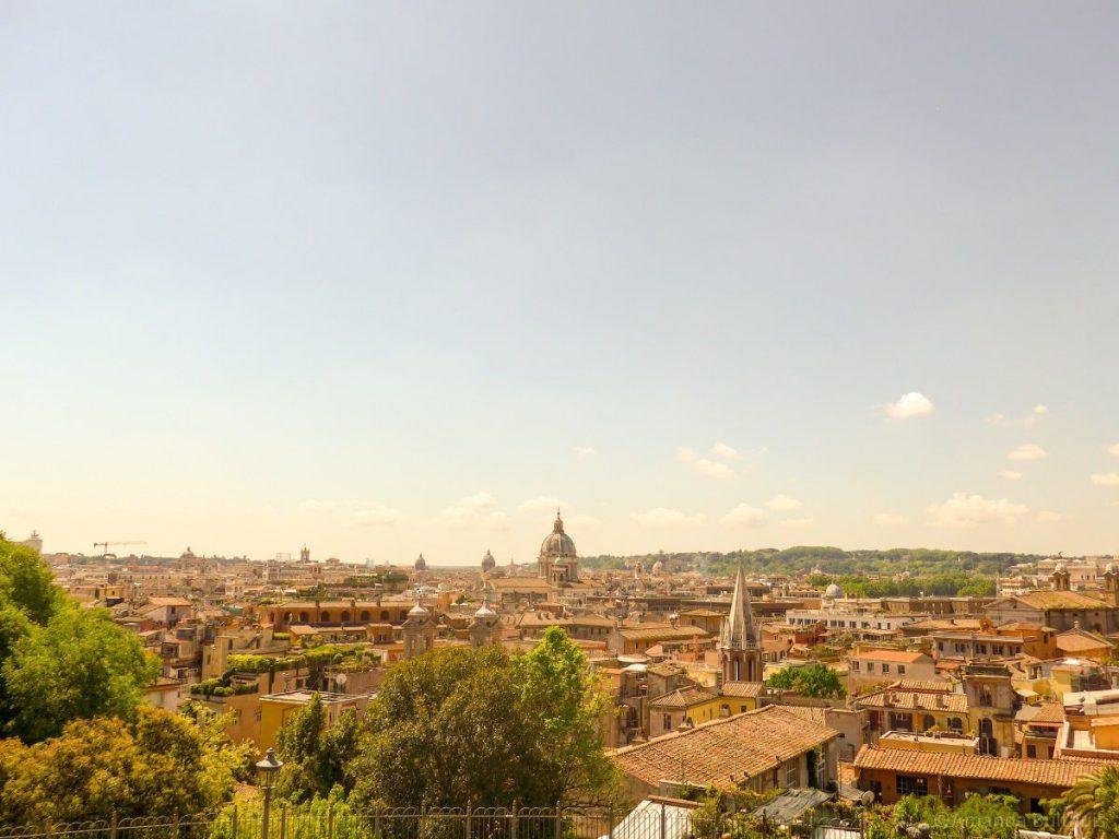Uitzicht over Rome bij Villa Medici