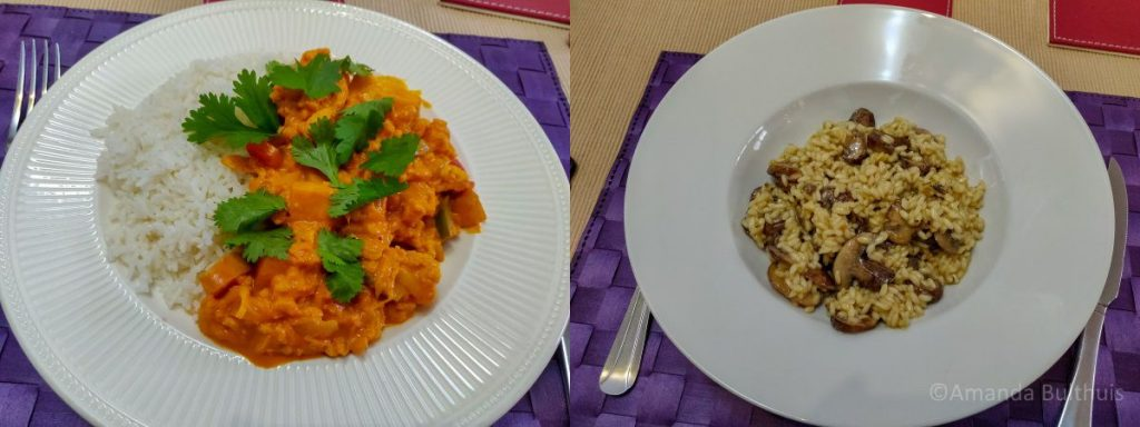 Vegetarische 'kip madras en risotto