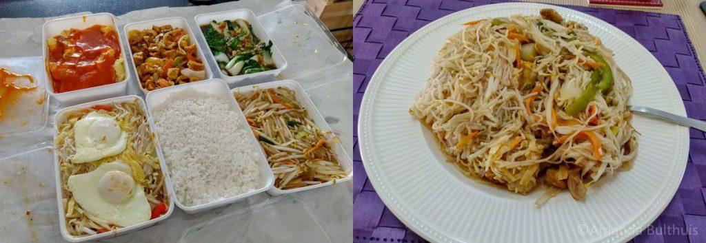 Vegetarische rijsttafel en opwarmchinees