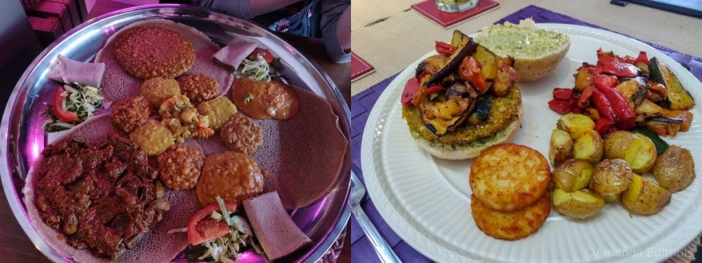 Gezana en Falafelburger