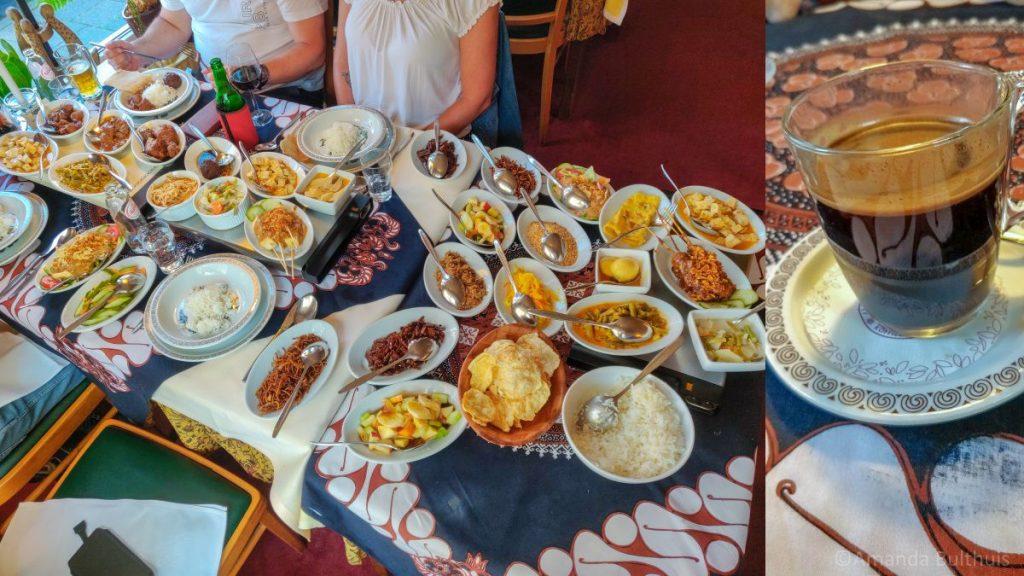 Indonesische rijsttafel Djawa