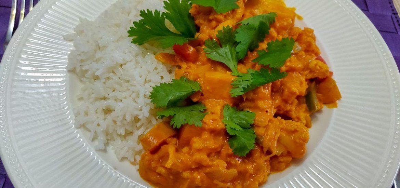 Wereldgerecht Kip Madras, vegetarisch, zonder pakjes en zakjes