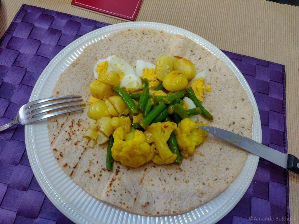 Wereldgerecht Surinaamse roti vegetarisch