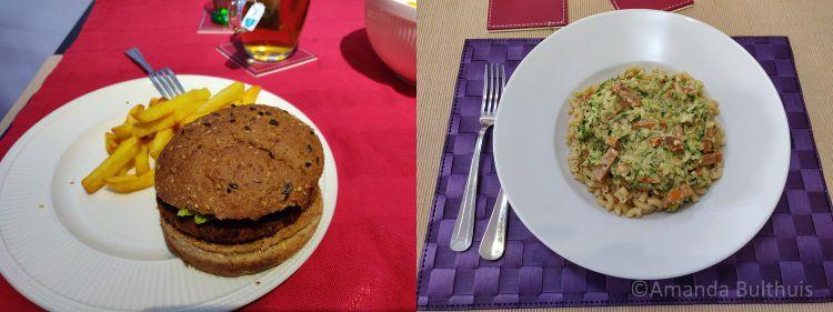 Burgers en macaroni