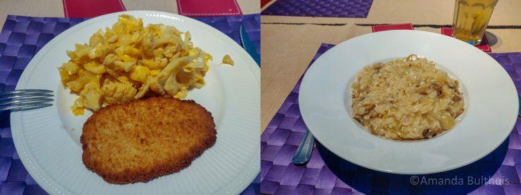 Schnitzel en risotto