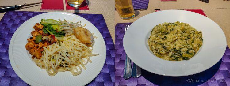 Chinees en risotto met andijvie