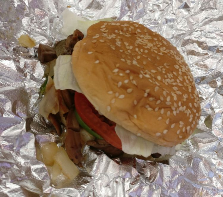 Veggie sandwich Five Guys