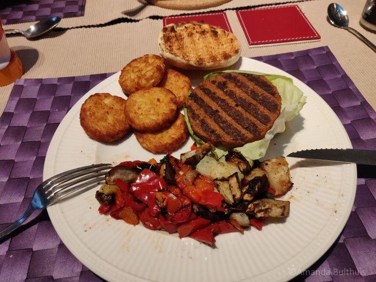 Vegetarische piri piri burger