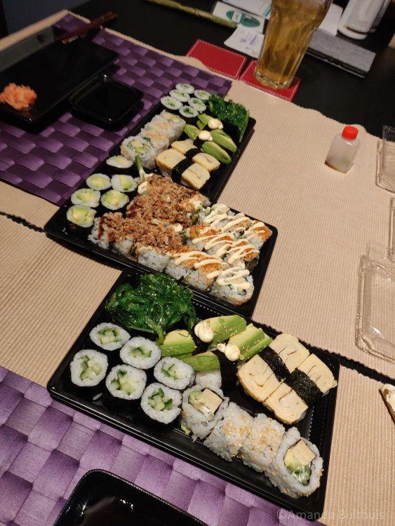 Veggie Sushi Valentijnsdag