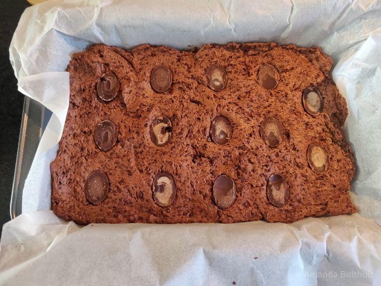 Brownies met paaseieren
