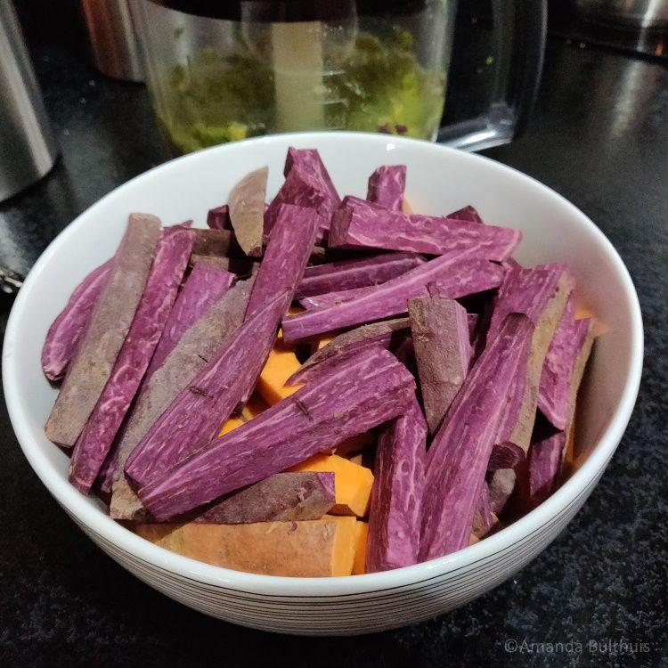 Groentefrietjes uit de Airfryer