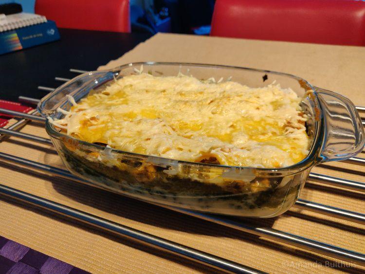 Vegan lasagne met spinazie