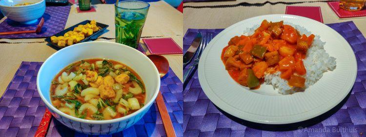 Ramen en orange tofu