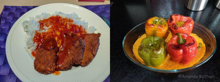 Babi pangang en gevulde paprika