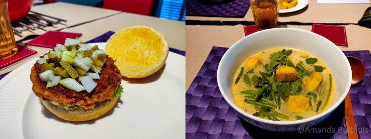 Burgers en currynoedelsoep