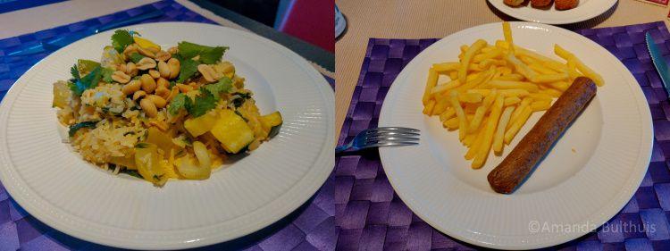 Curry en frietjes
