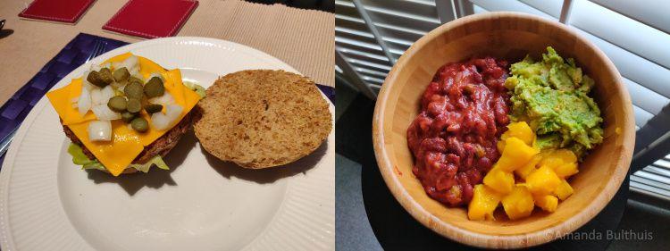 Vegaburger en Mexicaanse bowl