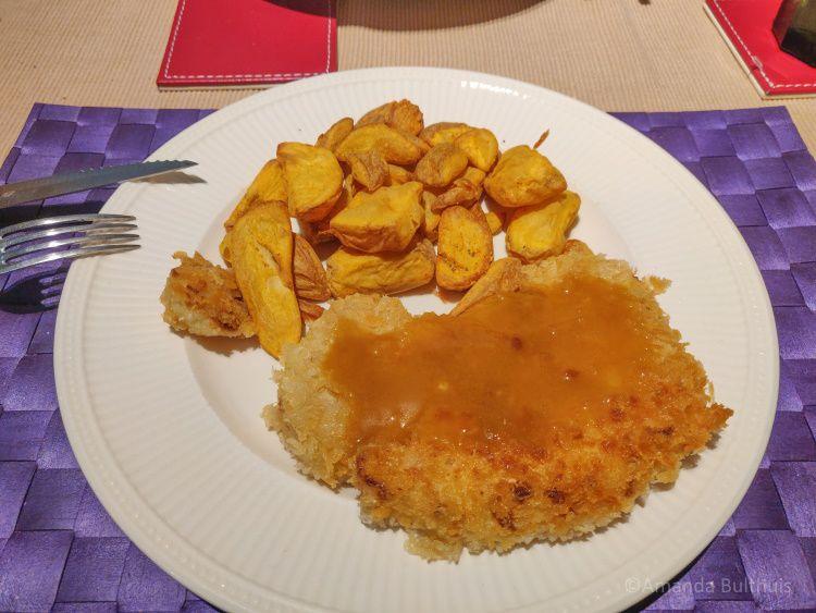Bloemkool Katsu met aardappels