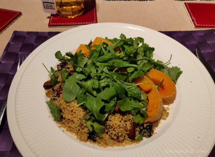 Geroosterde pompoen met couscous
