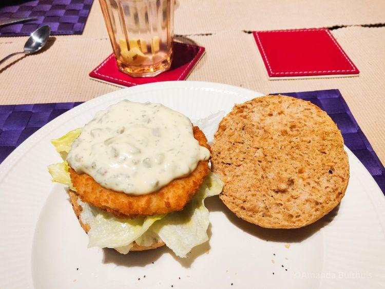 Vegan kipburger