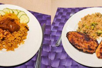 Nasi en aubergine met rijst