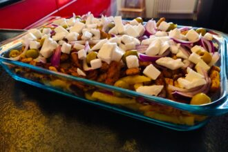 Griekse loaded fries