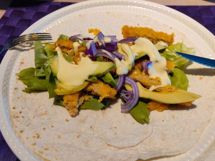 Wraps vegan kipschnitzel