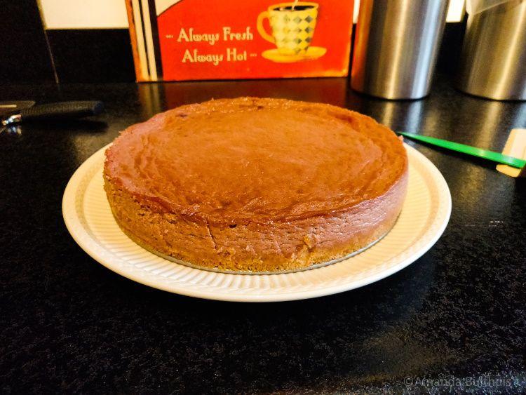 Vegan cheesecake met kersen