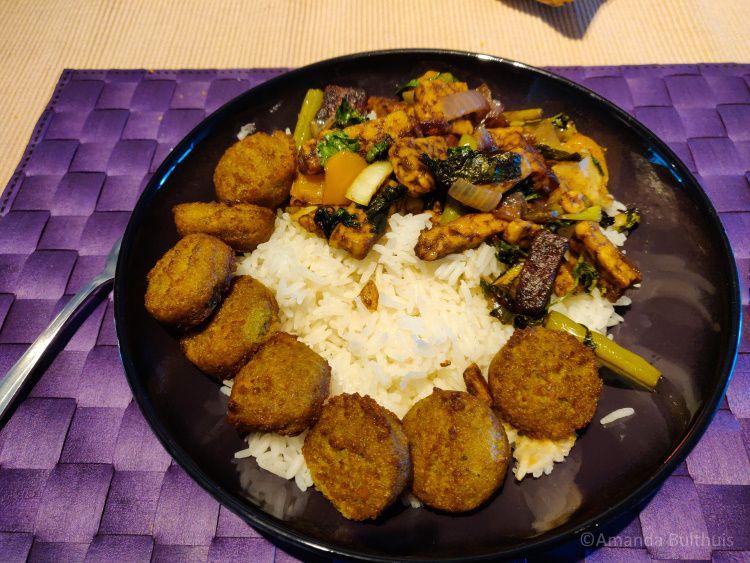 Wok met rijst en falafel - week 32 - 2021
