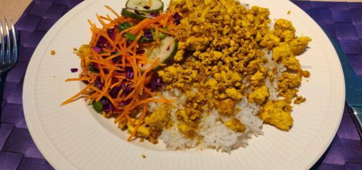Vegan roerei Aziatisch